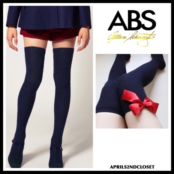 023bb4daf1e ABS TALL OVER THE KNEE NAVY BLUE BOOT SOCKS